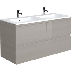 RAK Joy Grey Elm 1210mm Wall Hung Vanity Unit & Basin