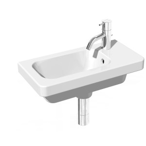 RAK Resort 450mm Cloak Basin 1 Tap Hole Right