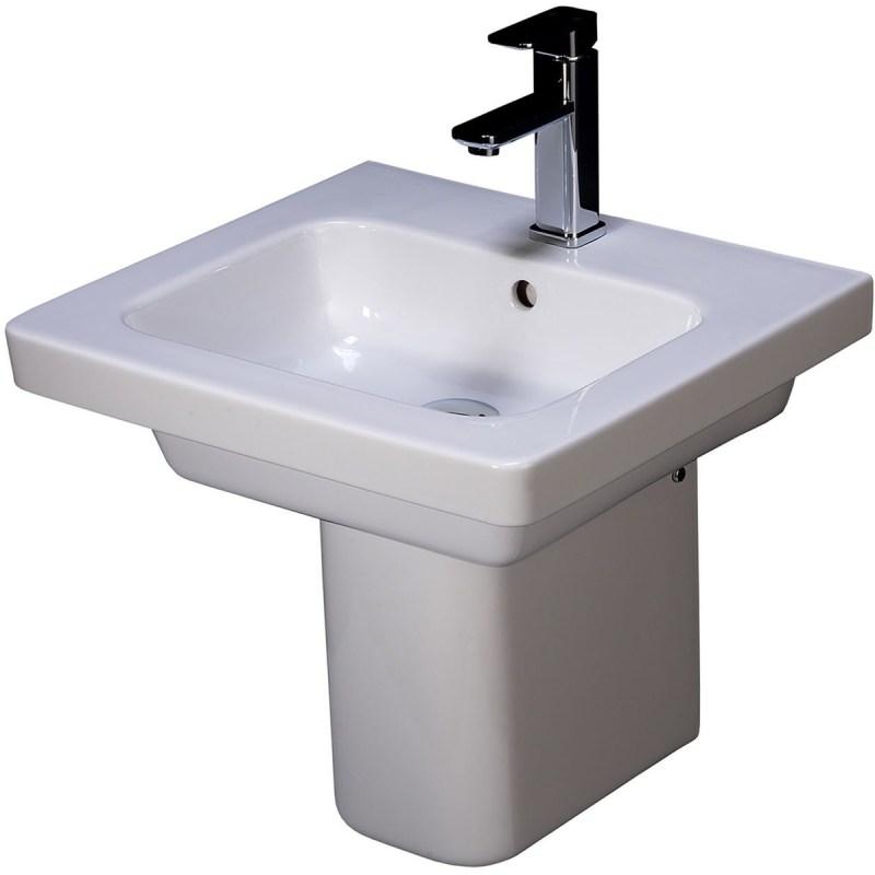 RAK Resort 500mm Basin with Semi-Pedestal