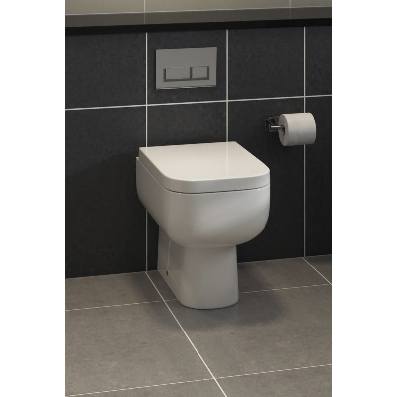 RAK Series 600 Back-To-Wall Toilet with Soft-Close Seat