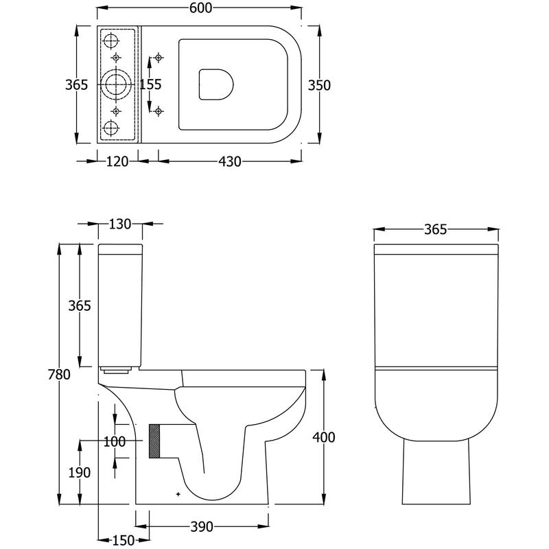 RAK Series 600 WC Pan