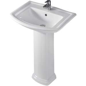 RAK Washington 650mm Basin with Full Pedestal