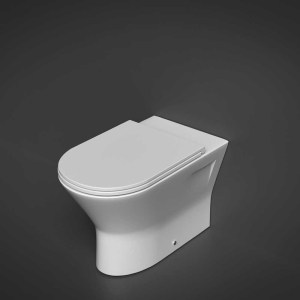 RAK Resort Comfort Height Back To Wall Pan with Sandwich Seat