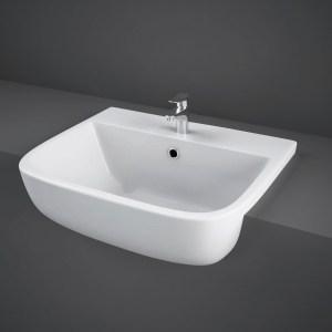 RAK Series 600 52cm Semi Recessed Basin 1 Taphole