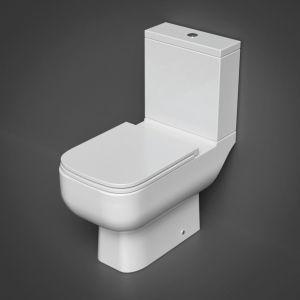 RAK Series 600 Open Back WC Pan, Cistern & Slim Sandwich Seat