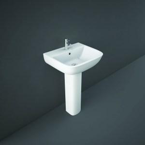RAK Series 600 Full Pedestal for 52cm Basin