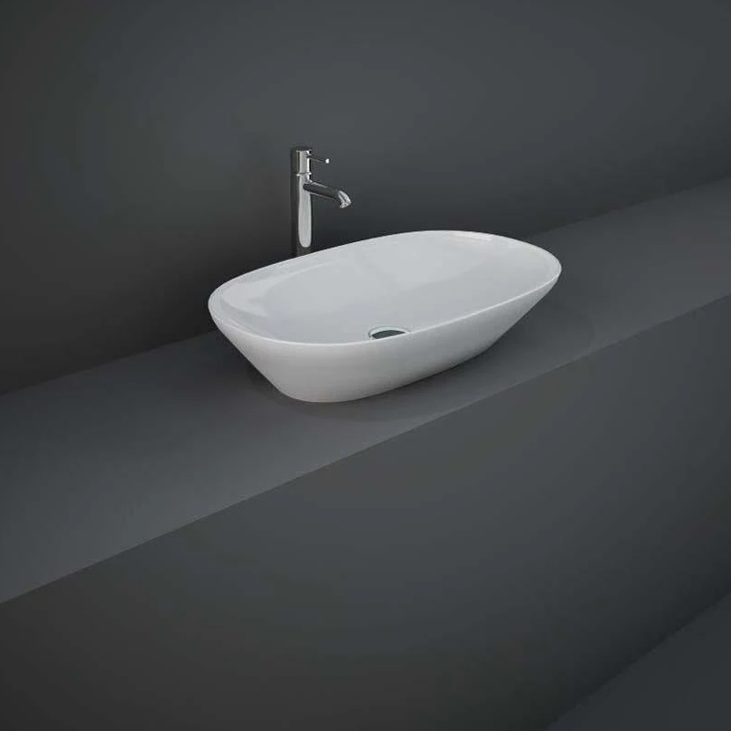 RAK Variant Elongated Oval Counter Top Basin 60cm Alpine White