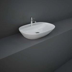 RAK Variant Elongated Oval Counter Top Basin 60cm 1 Tap Hole