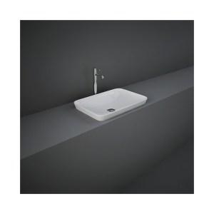 RAK Variant Rectangular Drop-In Wash Basin 55cm Alpine White