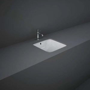 RAK Variant Square Under Counter Wash Basin 36cm Alpine White