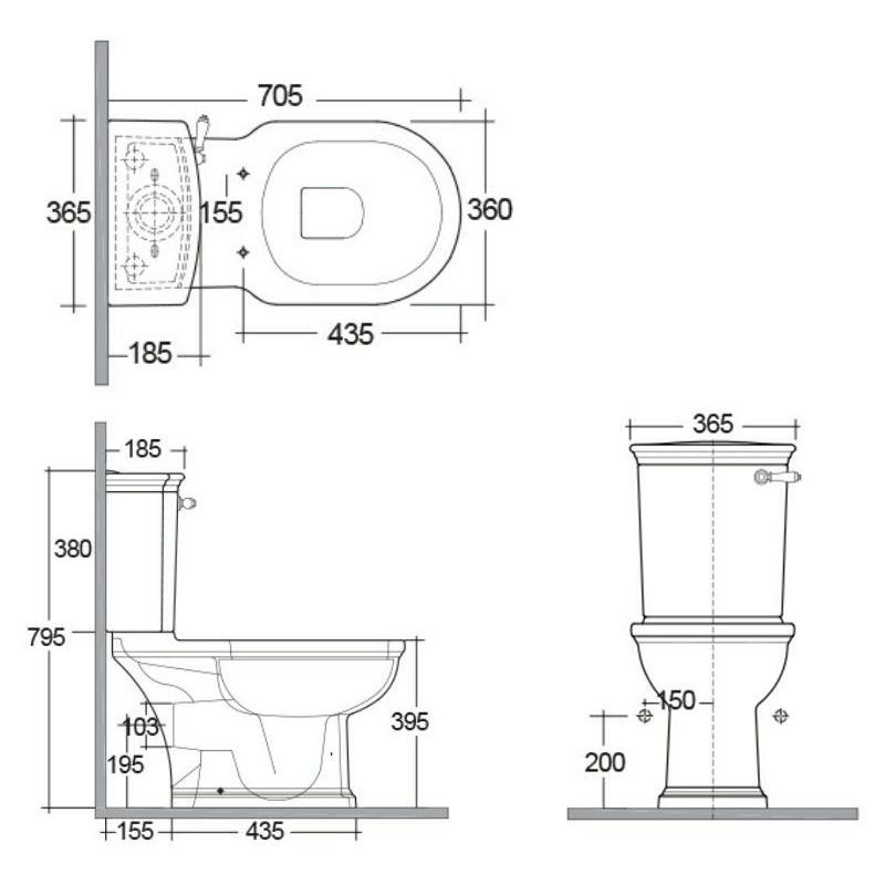 RAK Washington WC with Lever Handle & Matt Greige Seat