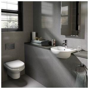 RAK Compact Wall Hung Cloakroom Suite