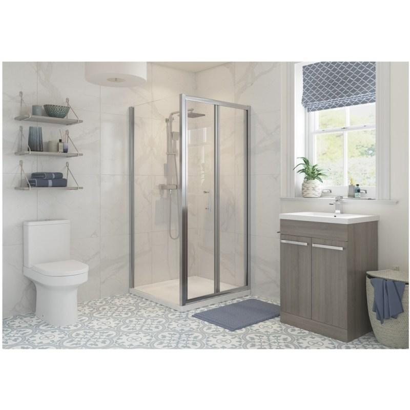 RefleXion Classix Framed 900mm Bi-Fold Shower Door