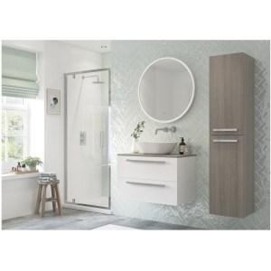 RefleXion Flex Framed 760mm Pivot Shower Door