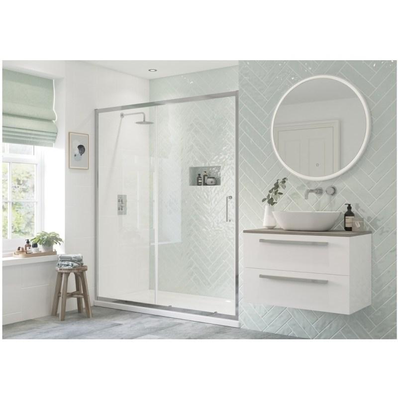 RefleXion Flex Framed 1700mm Sliding Shower Door