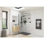 RefleXion 1200x800mm Slate Effect Ultra-Slim Shower Tray & Waste