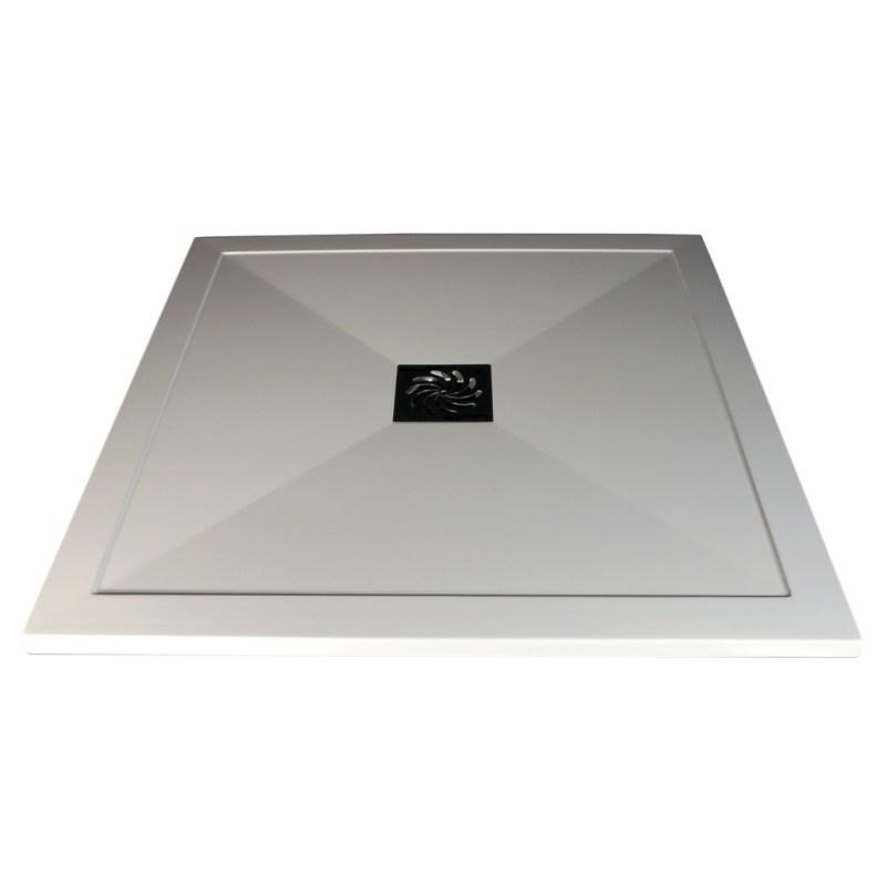 RefleXion Ultra-Slim 1200x900mm Offset Quadrant Tray & Waste Left