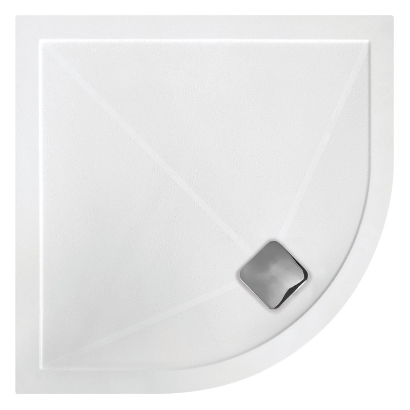RefleXion Anti-Slip Ultra-Slim 800mm Quadrant Tray & Waste