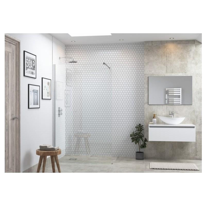 Reflexion Flex Wetroom Panel & Support Bar 1200mm