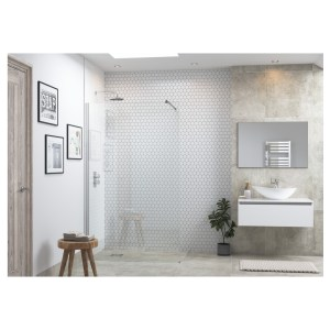 Reflexion Flex Wetroom Panel & Support Bar 800mm