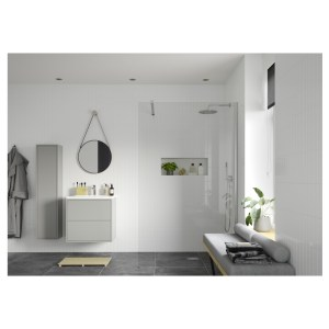 Reflexion Iconix Wetroom Panel & Support Bar 900mm