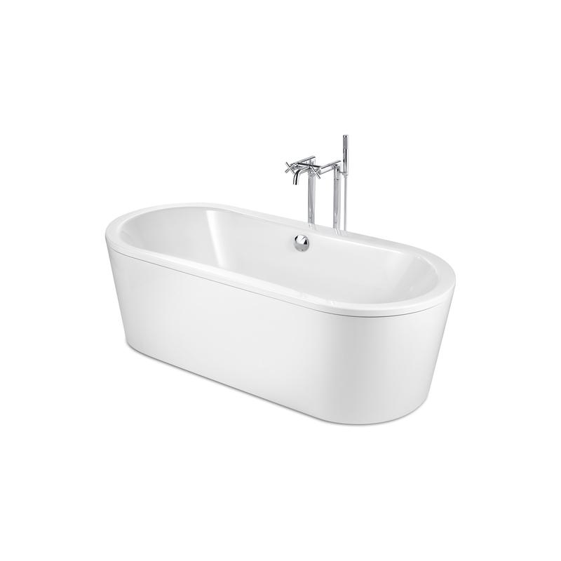 Roca Duo Plus Oval Freestanding Bath 1800x800mm White