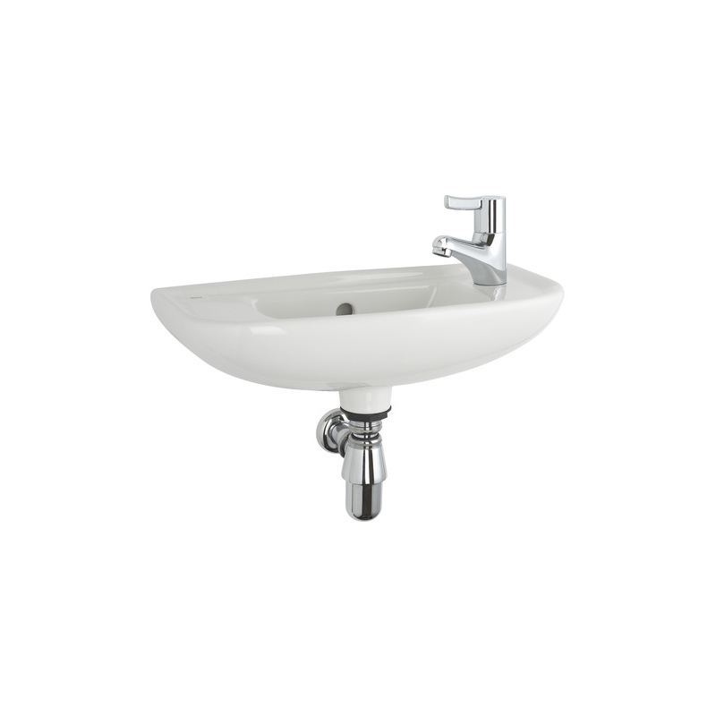 Roca Access Wall Hung Basin Right Hand Taphole White