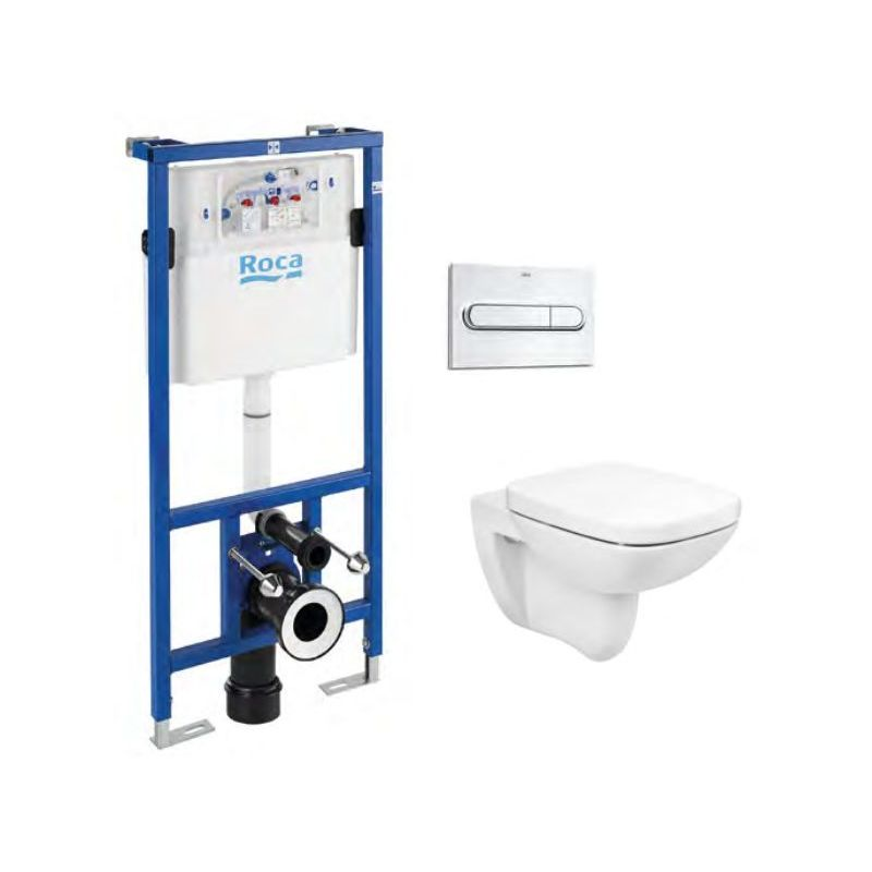 Roca Debba Square Rimless Wall-Hung WC & Frame Bundle