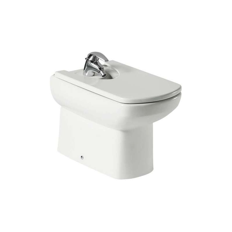 Roca Senso Compact Floor-Standing Bidet Back-To-Wall 1 Taphole