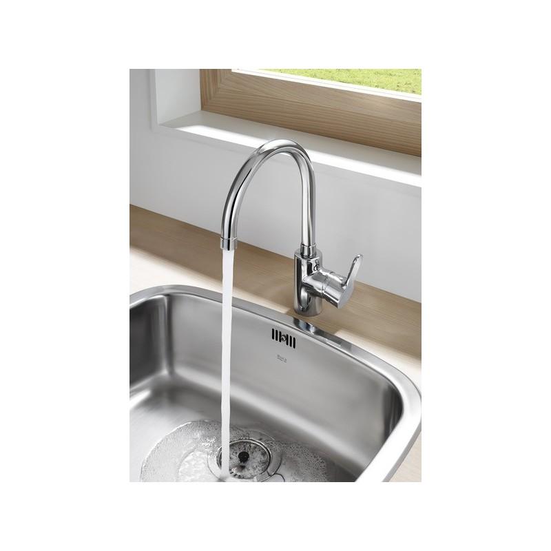 Roca L20 Kitchen Sink Mixer with Swivel Spout