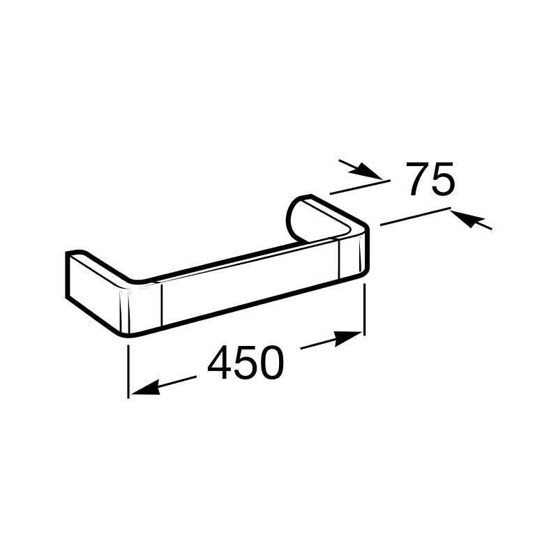 Roca Select Towel Rail 450mm
