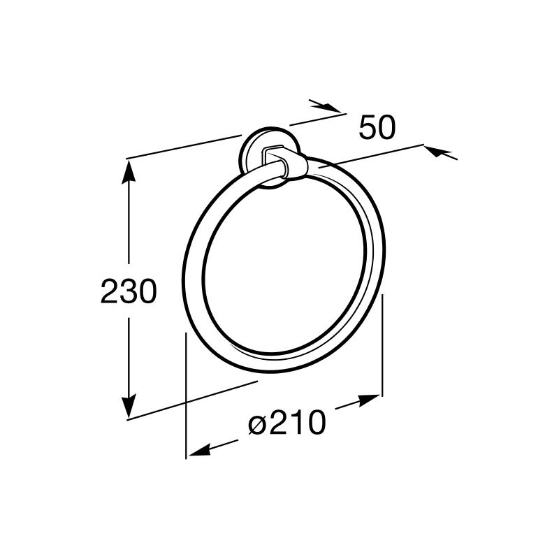 Roca Hotels 2.0 Towel Ring 210mm