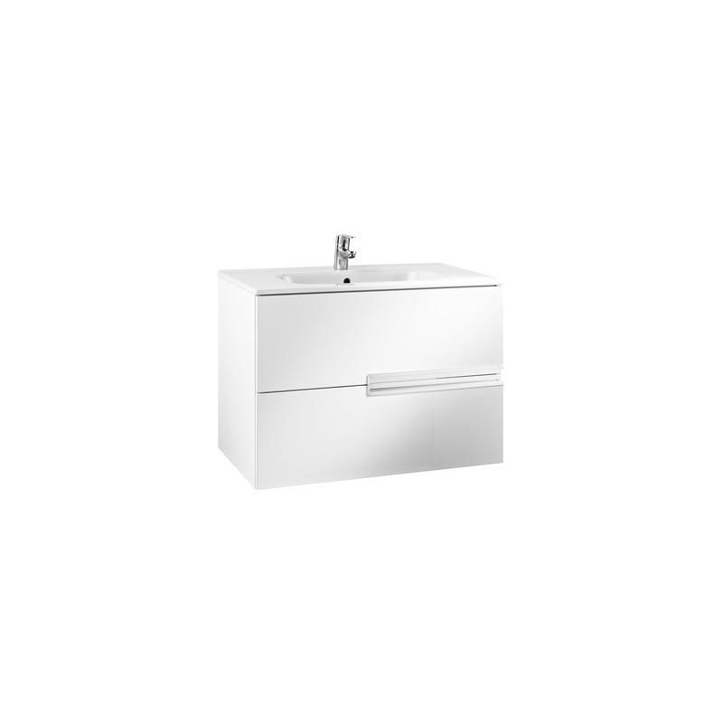 Roca Victoria-N Unik 1000mm 2 Drawer Unit & Basin Gloss White