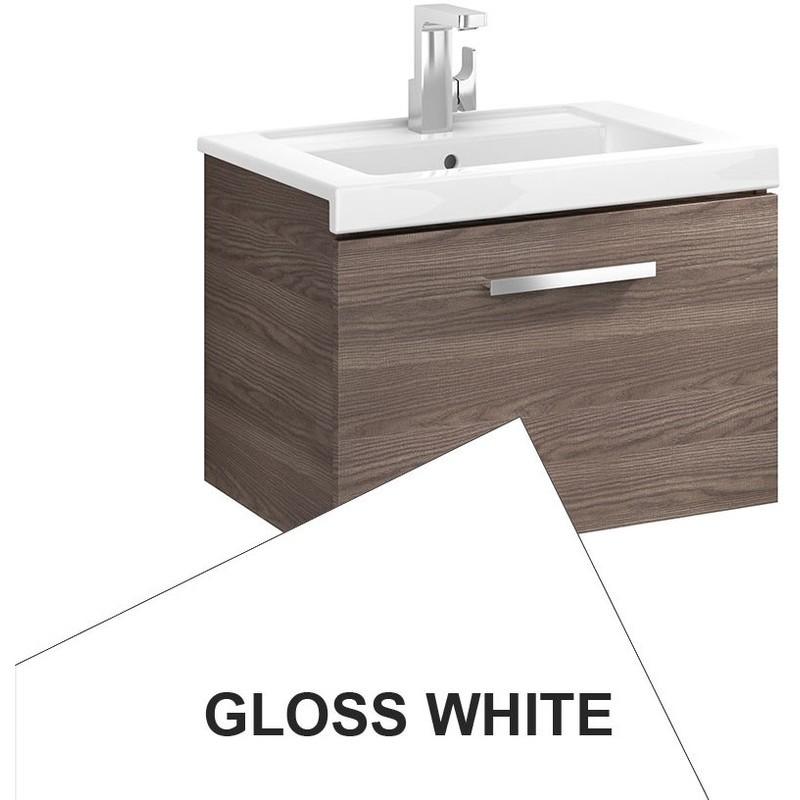 Roca Prisma Wall Hung 1 Drawer Basin Unit 60cm Gloss White