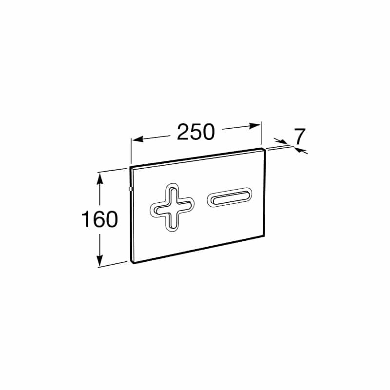 Roca PL6 Dual Flush Operating Plate Combi