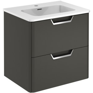 Royo Life 600mm Anthracite 2 Drawer Wall Unit