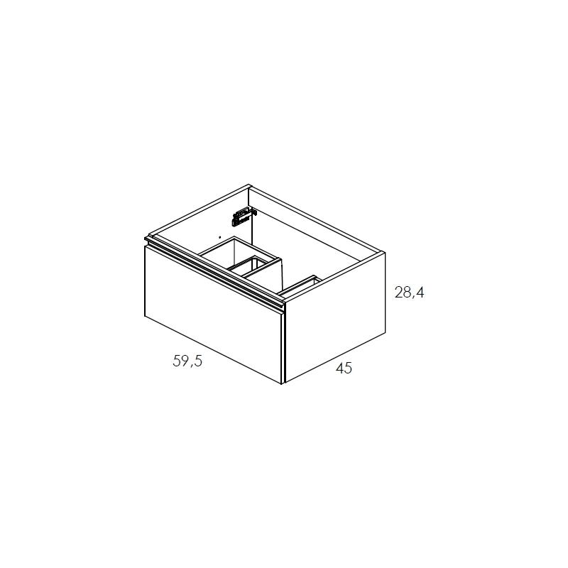 Royo Vida 600mm Anthracite 1 Drawer Wall Unit