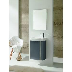 Royo Elegance Wall Hung Cloakroom Unit Pack Gloss Grey