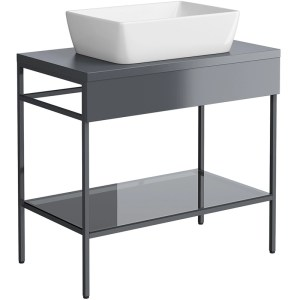 Synergy Berg 800mm Grey Floor Mounted Console Unit