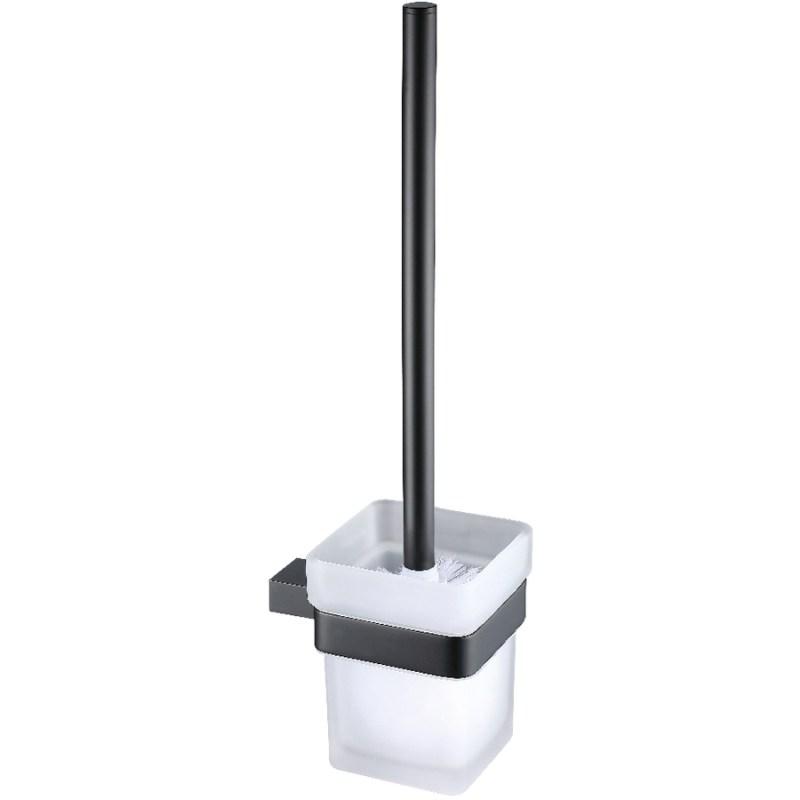 Synergy Stella Black Toilet Brush & Holder