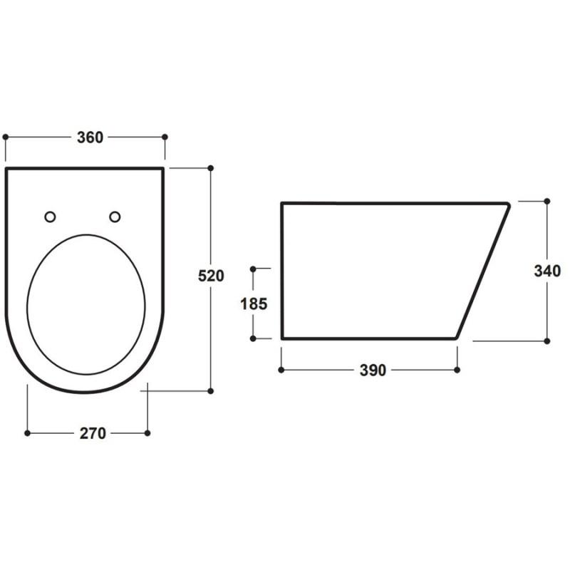 Synergy Marbella Wall Hung WC Pan