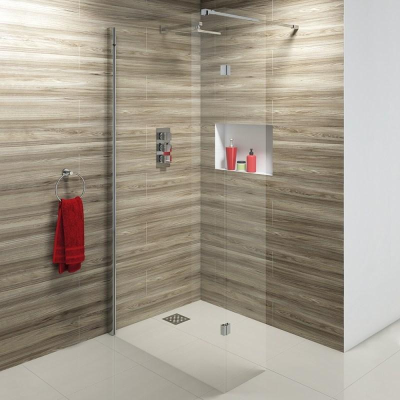 Synergy Vodas 10 800 x 2000mm Clear Wetroom Panel