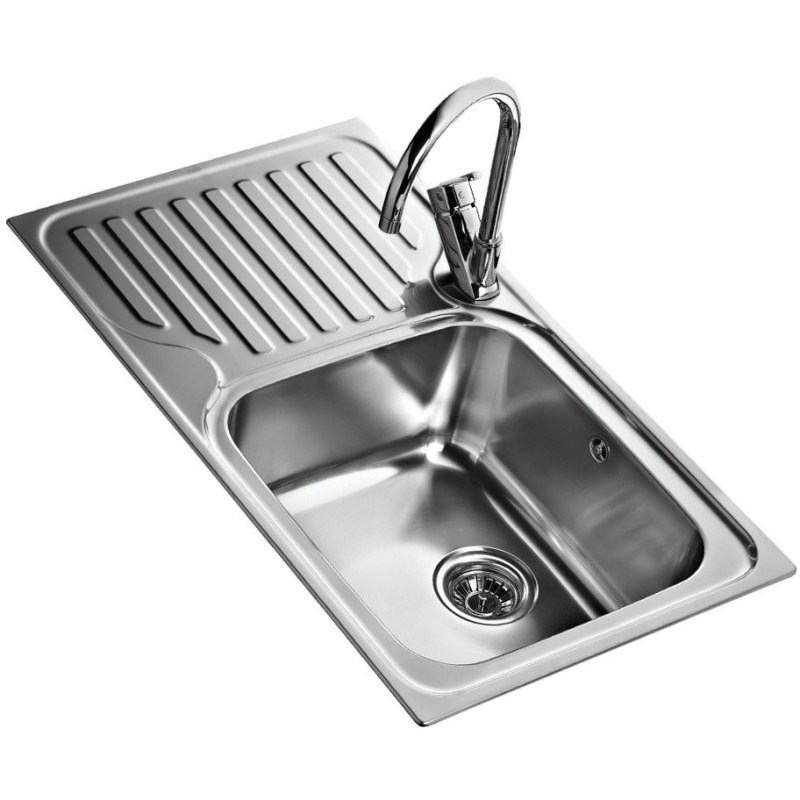 Teka Classic 1 Bowl & Drainer LHD Inset Sink Stainless Steel