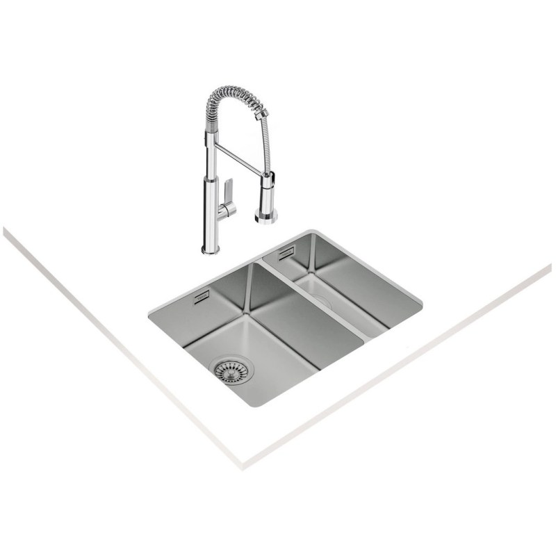 Teka BE Linea RS15 580 1.5 Bowl Undermount Sink Stainless Steel