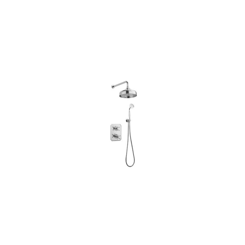 Tre Mercati Allora Concealed 2 Way Thermostatic Shower Set Chrome