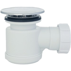 Tre Mercati Combined Plastic Shower Trap & Waste, Removable Grid