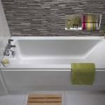 Twyford Aspect Bath 1700x700mm 2 Tap Holes