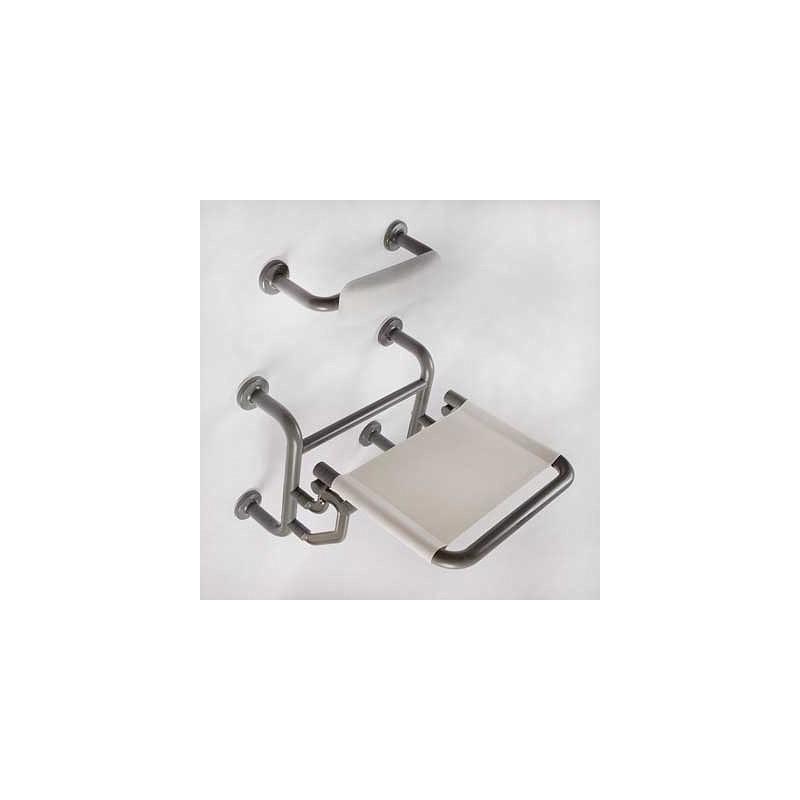 Twyford Avalon Folding Shower Seat Doc.M Compliant Grey