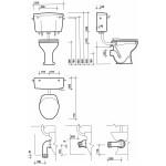 Twyford Classic Low Level Cistern Chrome Lever, Bottom Supply