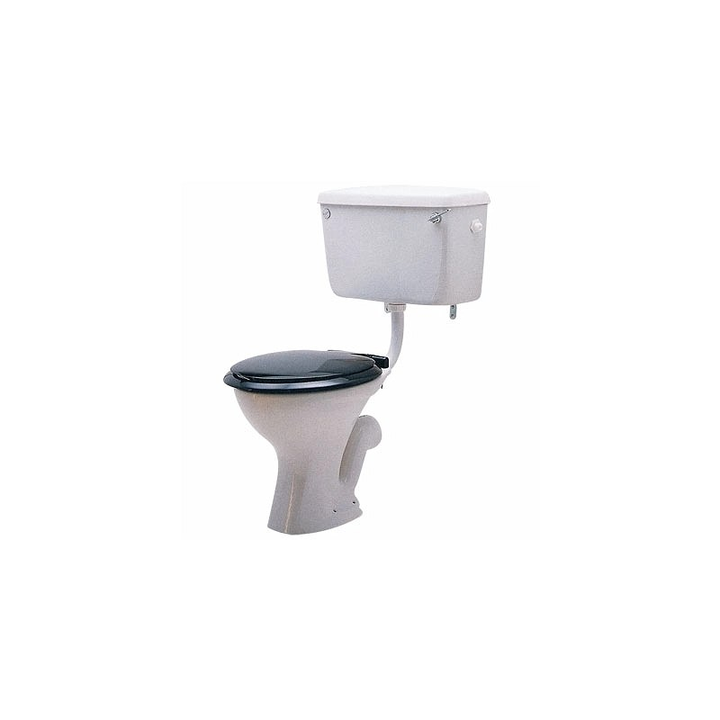 Twyford Classic Low Level Cistern with Lever, Side Inlet Side Outlet
